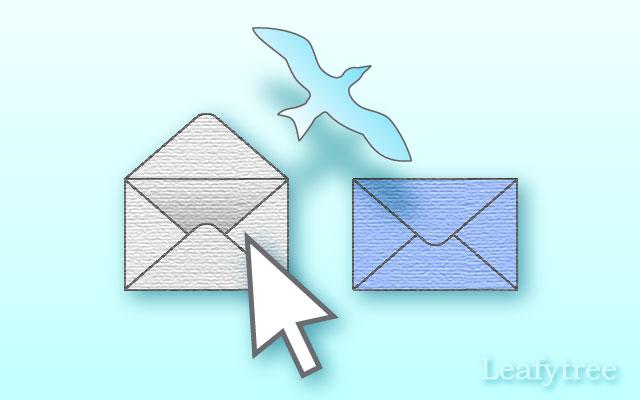 メールの未読、既読のイメージ