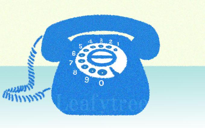 黒電話のイメージイラスト