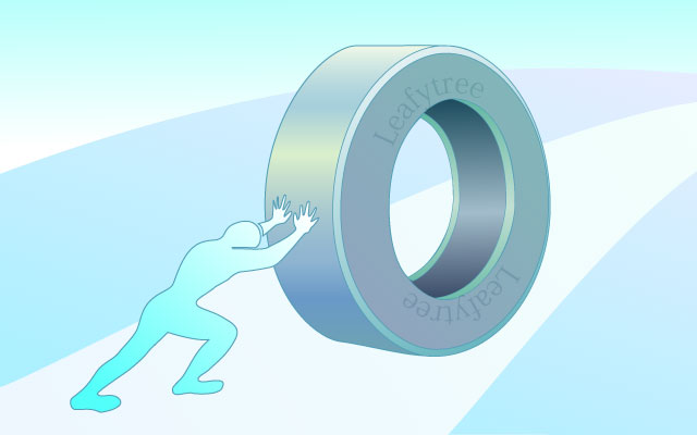 タイヤの転がり抵抗のイメージイラスト