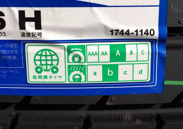 タイヤのグレーティングシステムのラベル
