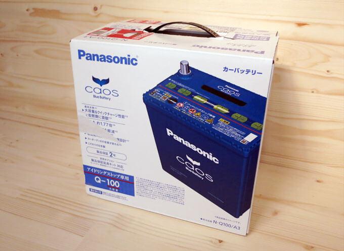 パナソニック アイドリングストップ車用バッテリー caos Q-100