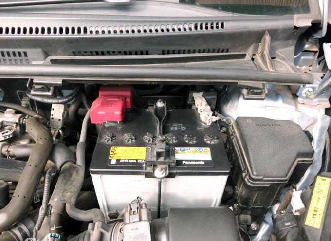 ラクティスの新車購入時に積まれていたバッテリー Q-55