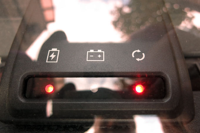 メモリーキーパーのインジケーターの点灯位置が変わる